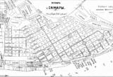 План города Самары 1916 года с указанием трамвайных машрутов